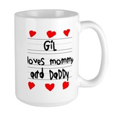 Gil Loves Mommy and Daddy Mug