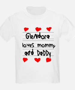 Glendora Loves Mommy and Daddy T-Shirt