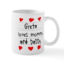 Greta Loves Mommy and Daddy Mug