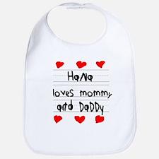 Hana Loves Mommy and Daddy Bib
