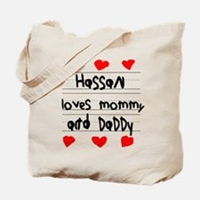 Hassan Loves Mommy and Daddy Tote Bag