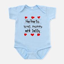 Heriberto Loves Mommy and Daddy Infant Bodysuit
