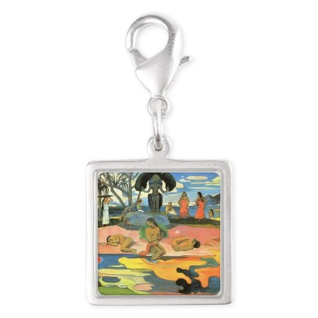 Paul Gauguin Silver Square Charm