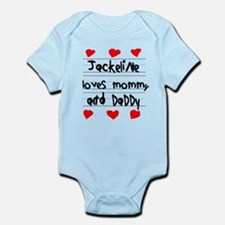 Jackeline Loves Mommy and Daddy Infant Bodysuit