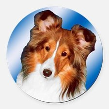Sheltie Gifts Round Car Magnet