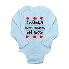 Jacquelyn Loves Mommy and Daddy Onesie Romper Suit