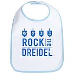 Rock the DREIDEL - Hannukah Baby Bib