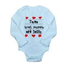 Jana Loves Mommy and Daddy Onesie Romper Suit