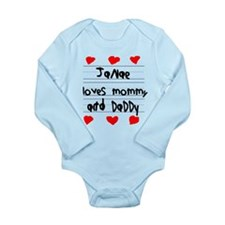 Janae Loves Mommy and Daddy Onesie Romper Suit