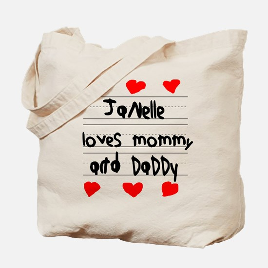 Janelle Loves Mommy and Daddy Tote Bag
