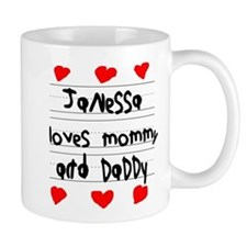 Janessa Loves Mommy and Daddy Mug