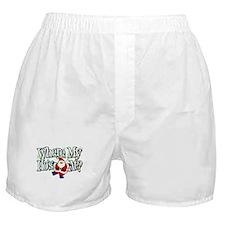 Santa Where My HOs Boxer Shorts