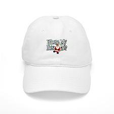 Santa Where My HOs Baseball Cap