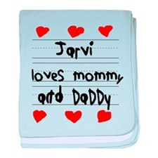 Jarvi Loves Mommy and Daddy baby blanket