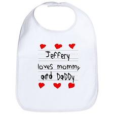 Jeffery Loves Mommy and Daddy Bib