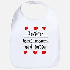 Jenifer Loves Mommy and Daddy Bib