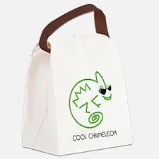 Cool Chameleon Canvas Lunch Bag
