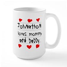 Johnathon Loves Mommy and Daddy Mug