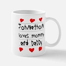 Johnathon Loves Mommy and Daddy Small Small Mug