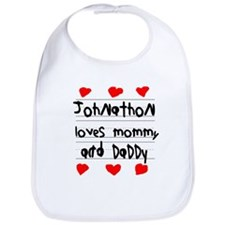 Johnathon Loves Mommy and Daddy Bib