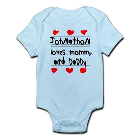 Johnathon Loves Mommy and Daddy Infant Bodysuit