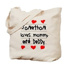 Jonathon Loves Mommy and Daddy Tote Bag