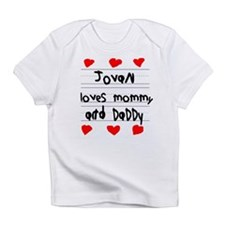 Jovan Loves Mommy and Daddy Infant T-Shirt