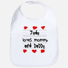 Jude Loves Mommy and Daddy Bib