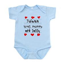 Juliann Loves Mommy and Daddy Infant Bodysuit
