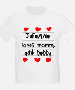 Julianna Loves Mommy and Daddy T-Shirt