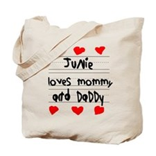 Junie Loves Mommy and Daddy Tote Bag