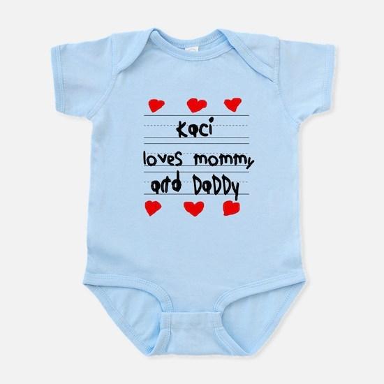 Kaci Loves Mommy and Daddy Infant Bodysuit
