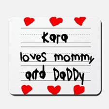 Kara Loves Mommy and Daddy Mousepad
