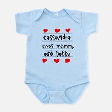 Kassandra Loves Mommy and Daddy Infant Bodysuit