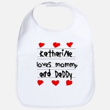 Katharine Loves Mommy and Daddy Bib