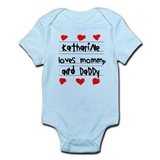 Katharine Loves Mommy and Daddy Infant Bodysuit