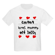 Keenan Loves Mommy and Daddy T-Shirt
