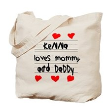 Kenna Loves Mommy and Daddy Tote Bag