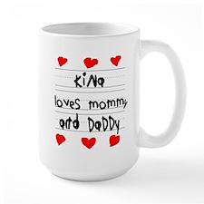 Kina Loves Mommy and Daddy Mug