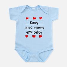 Korey Loves Mommy and Daddy Infant Bodysuit