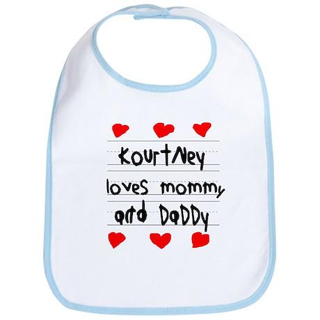 Kourtney Loves Mommy and Daddy Bib