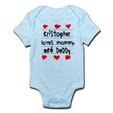 Kristopher Loves Mommy and Daddy Infant Bodysuit