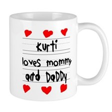 Kurti Loves Mommy and Daddy Small Mug