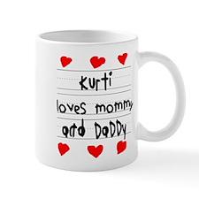 Kurti Loves Mommy and Daddy Small Small Mug