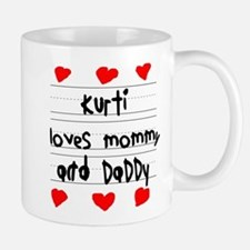 Kurti Loves Mommy and Daddy Small Small Mug