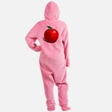 Red Apple Fruit Footed Pajamas