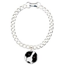 Border Collie Watching Ewe Charm Bracelet, One Cha