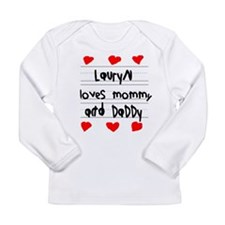 Lauryn Loves Mommy and Daddy Long Sleeve Infant T-