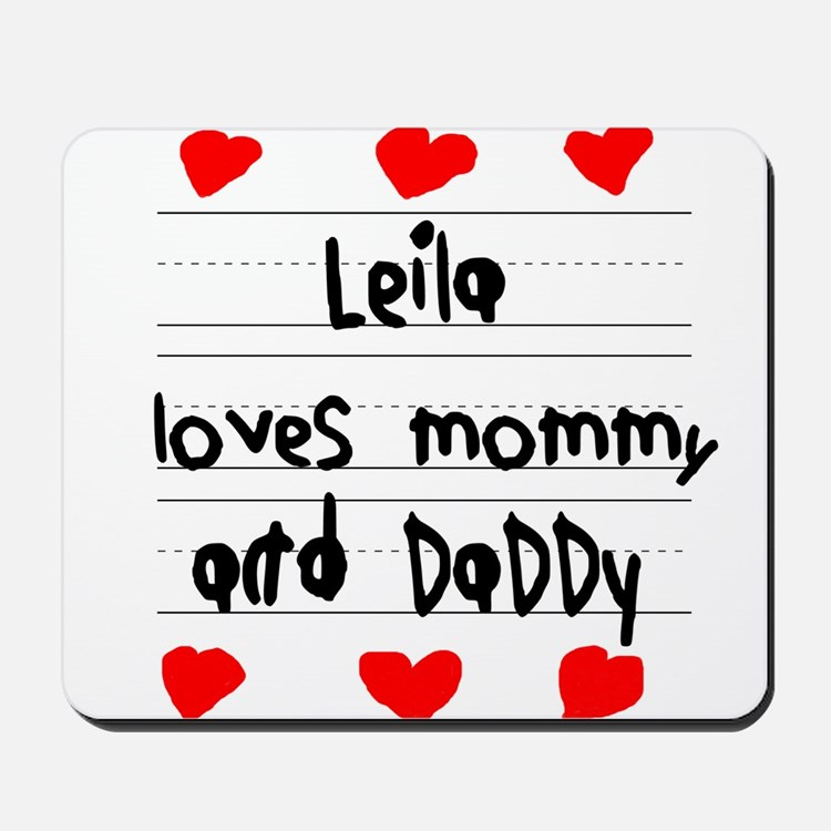 Leila Loves Mommy and Daddy Mousepad