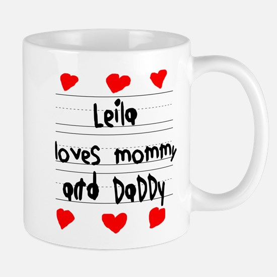 Leila Loves Mommy and Daddy Mug